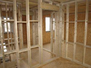 Правила утепления и монтажа межкомнатных перегородок в каркасном доме