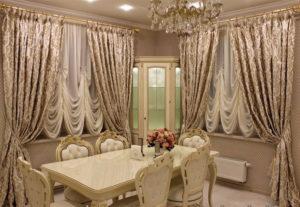 Французские шторы: роскошная деталь интерьера