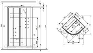 Какие бывают размеры душевых кабин?