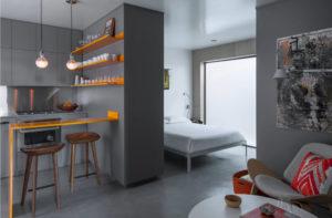 Дизайн маленькой однокомнатной квартиры: интересные идеи
