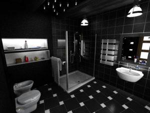 Как правильно оформить черно-белую ванную комнату?