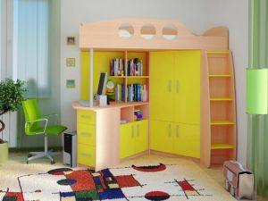 Выбираем уголок школьнику со шкафом для одежды