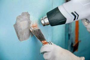 Как снять краску с бетонной стены?