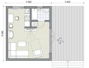 Особенности планировки дома площадью 25 кв.м
