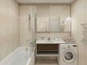Дизайн ванной комнаты площадью 3 кв. м: варианты без туалета и с ним