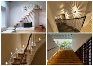 Подсветка лестницы: особенности и разновидности