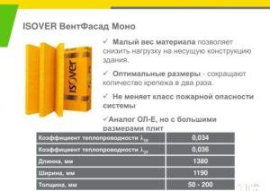 Продукция Isover для вентилируемых фасадов: материалы и их характеристики