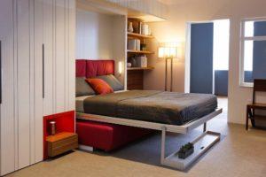 Кровать в дизайне интерьера гостиной