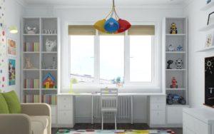 Стол-подоконник: оригинальные идеи организации пространства в детской