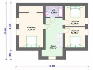 Проекты дома из пеноблоков с мансардой: тонкости планировки пространства