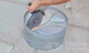 Процесс изготовления мангала из барабана стиральной машины