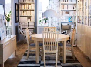 Круглые столы от Ikea в интерьере
