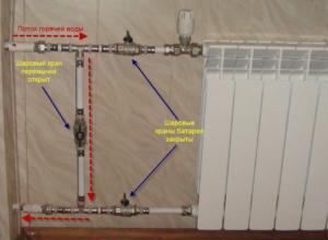 Как перекрыть батарею отопления в квартире?