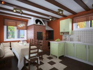 Особенности планировки кухни-гостиной на даче