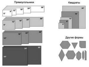Стандартные размеры напольной плитки
