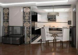 Дизайн кухни, совмещенной с гостиной, в хрущевке