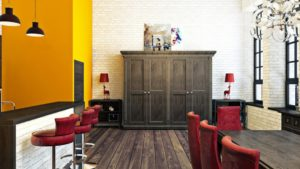 Шкафы в стиле лофт в интерьере