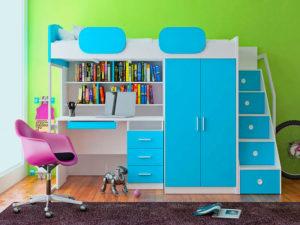 Выбираем детскую кровать-чердак со шкафом и столом
