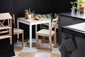 Стулья для кухни от ikea в интерьере
