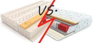 Какой матрас лучше: пружинный или беспружинный?