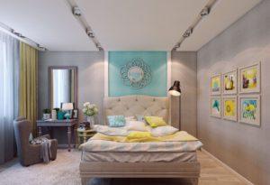 Дизайн спальни площадью 13 кв. м