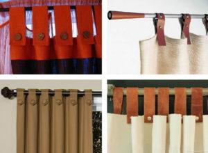 Шторы на петлях: особенности, дизайн и технология изготовления