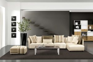 Мягкая мебель для гостиной: красивые варианты в интерьере