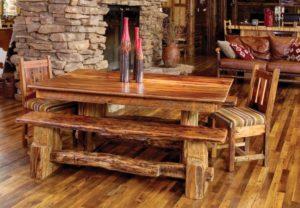 Столы под старину: интересные варианты в интерьере