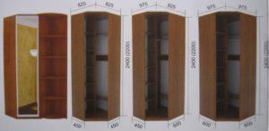 Угловой шкаф: виды и характеристики
