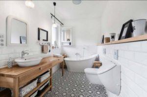 Ванные в скандинавском стиле: простота и природная естественность