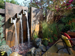 Искусственный водопад: оригинальные идеи в ландшафтном дизайне