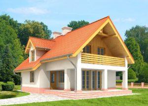 Красивые проекты домов с мансардой площадью до 120 м2