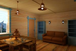 Отделка Блок-хаусом внутри дома: идеи дизайна и способы монтажа