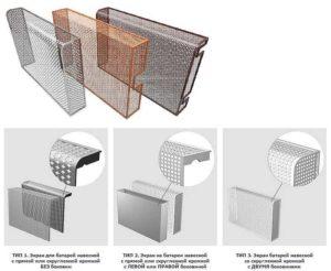 Особенности и виды металлических экранов на батарею отопления