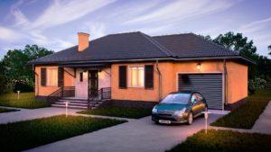Одноэтажные дома с гаражом: популярные варианты