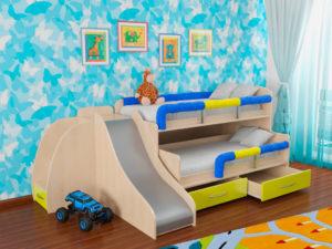 Детские модели кроватей с горкой