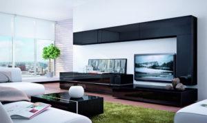 Мебель под телевизор в гостиную: особенности выбора
