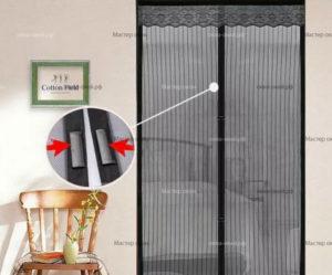 Москитные шторы на магнитах: характеристики и особенности использования