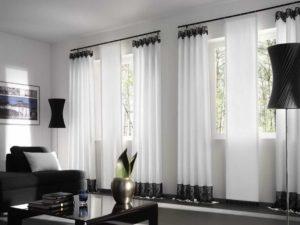 Белые шторы – стильное решение