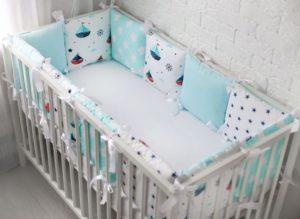 Как подобрать бортики в кроватку для мальчика?