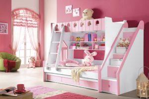 Выбираем детскую двухъярусную кровать для девочки