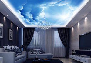 Потолок Небо: красивые варианты в интерьере