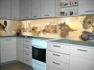 Фартуки с рисунком из МДФ для кухни
