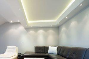 Красивые идеи оформления двухуровневых потолов из гипсокартона с подсветкой