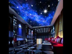 Потолки в виде звездного неба в интерьере
