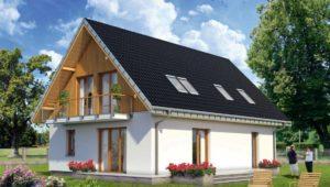 Дом с мансардой площадью 6х8: красивые идеи проэктов