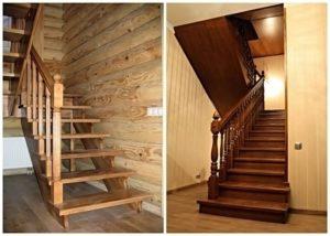 Проектирование и установка деревянных лестниц в загородном доме