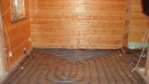 Теплый пол в бане: виды и технология изготовления