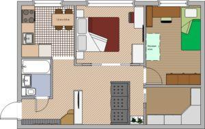 Тонкости планировки 2-х комнатной хрущевки