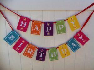 Гирлянды С днем рождения!: разновидности и руководство по изготовлению